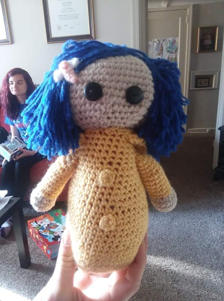 CROCHETED CORALINE DOLL